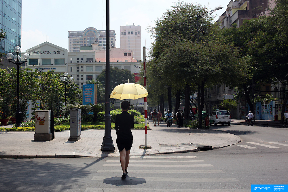 A street scene in Ho Chi Minh City, Vietnam. 3rd March 2012. Photo Tim Clayton