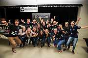 Het team viert feest na afloop van de wedstrijd. Het Human Power Team Delft en Amsterdam, dat bestaat uit studenten van de TU Delft en de VU Amsterdam, is in Amerika om tijdens de World Human Powered Speed Challenge in Nevada een poging te doen het wereldrecord snelfietsen voor vrouwen te verbreken met de VeloX 7, een gestroomlijnde ligfiets. Het record is met 121,81 km/h sinds 2010 in handen van de Francaise Barbara Buatois. De Canadees Todd Reichert is de snelste man met 144,17 km/h sinds 2016.<br /> <br /> With the VeloX 7, a special recumbent bike, the Human Power Team Delft and Amsterdam, consisting of students of the TU Delft and the VU Amsterdam, wants to set a new woman's world record cycling in September at the World Human Powered Speed Challenge in Nevada. The current speed record is 121,81 km/h, set in 2010 by Barbara Buatois. The fastest man is Todd Reichert with 144,17 km/h.