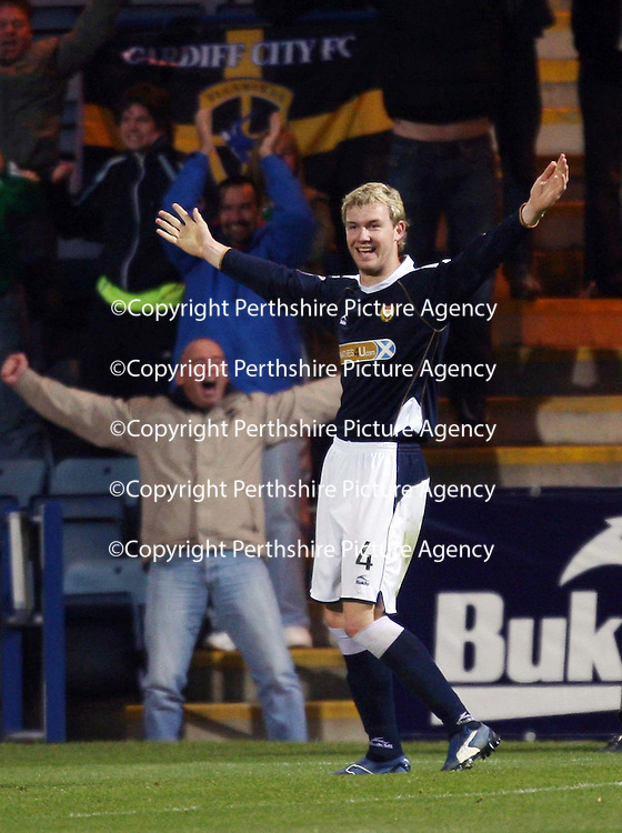 Dundee v St Johnstone....03.11.07<br /> Kevin McDonald celebrates scoring the winner<br /> <br /> Picture by Graeme Hart.<br /> Copyright Perthshire Picture Agency<br /> Tel: 01738 623350  Mobile: 07990 594431