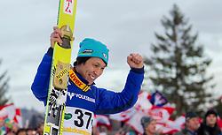 11.01.2014, Kulm, Bad Mitterndorf, AUT, FIS Ski Flug Weltcup, Siegerehrung, im Bild Noriaki Kasai (JPN) // Noriaki Kasai (JPN) after the secondl jump of FIS Ski Flying World Cup at the Kulm, Bad Mitterndorf, .Austria on 2014/01/11, EXPA Pictures © 2013, PhotoCredit: EXPA/ Erwin Scheriau