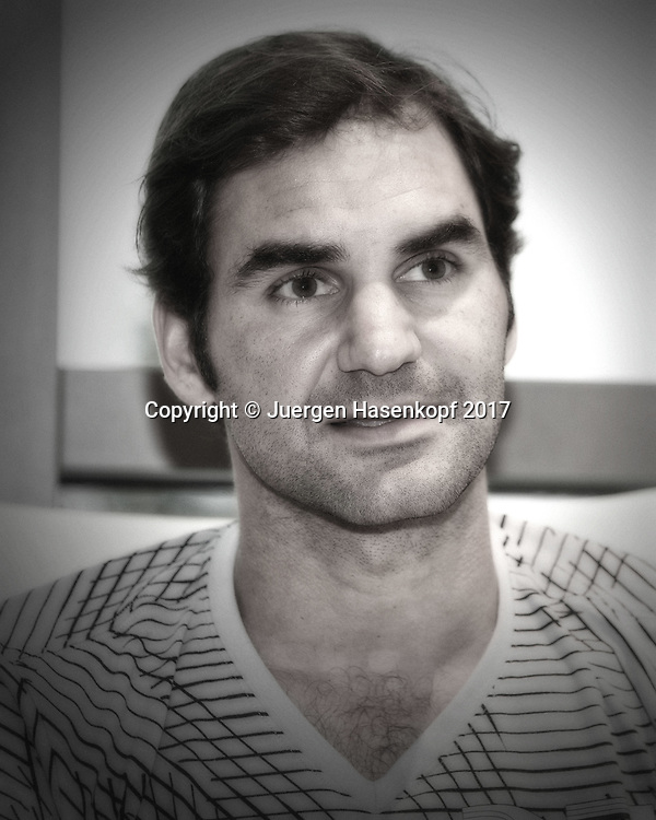 ROGER FEDERER (SUI), Pressekonferenz<br /> <br /> Tennis - Dubai Tennis Championships 2017 - ATP -  Dubai Duty Free Tennis Stadium - Dubai  -  - United Arab Emirates  - 26 February 2017.