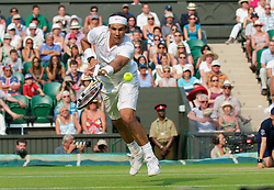 LONDON, ENGLAND - Saturday, June 26, 2010: Rafael Nadal (ESP) during the Gentlemen's Singles 3rd Round match on day six of the Wimbledon Lawn Tennis Championships at the All England Lawn Tennis and Croquet Club. (Pic by David Rawcliffe/Propaganda)