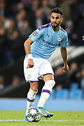 Manchester City midfielder Riyad Mahrez (26) during the Champions League match between Manchester City and Dinamo Zagreb at the Etihad Stadium, Manchester, England on 1 October 2019.