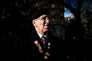UNITED KINGDOM, London: 05 January 2016 Robert Gray, a veteran of the Duke of Wellington Regiment protests outside Downing Street this morning against the governments decision to investigate possible human rights abuses of the British Military in Iraq. Veterans gathered in Whitehall Gardens and marched to 10 Downing Street.  Rick Findler / Story