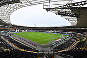A general view inside the KCOM stadium before the EFL Sky Bet Championship match between Hull City and Sheffield Wednesday at the KCOM Stadium, Kingston upon Hull, England on 12 January 2019.