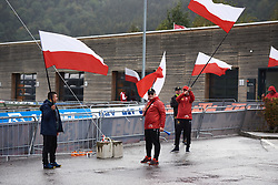 Polish fans arrive at UCI Road World Championships 2018 - Junior Women's ITT, a 19.8 km individual time trial in Innsbruck, Austria on September 24, 2018. Photo by Sean Robinson/velofocus.com
