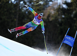 10.02.2011, Kandahar, Garmisch Partenkirchen, GER, FIS Alpin Ski WM 2011, GAP, Herren Abfahrtstraining, im Bild Mirko Deflorian (MDA) takes to the air competing in the first men's downhill training run on the Kandahar race piste at the 2011 Alpine skiing World Championships, EXPA Pictures © 2011, PhotoCredit: EXPA/ M. Gunn