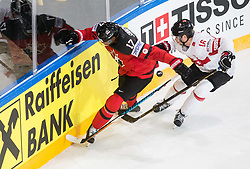 Wayne Simmonds of Canada vs Raphael Diaz of Switzerland during the 2017 IIHF Men's World Championship group B Ice hockey match between National Teams of Canada and Switzerland, on May 13, 2017 in AccorHotels Arena in Paris, France. Photo by Vid Ponikvar / Sportida