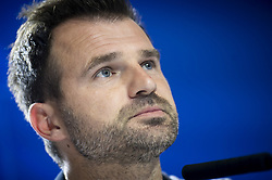 October 2, 2018 - Madrid, Spain - Club Brujas coach Ivan Leko during press conference the day before Group Stage UEFA Champions League match between Atletico de Madrid and Club Brujas at Wanda Metropolitano Stadium in Madrid, Spain. October, 2018. (Credit Image: © Coolmedia/NurPhoto/ZUMA Press)