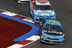 September 30, 2018 - Concord, North Carolina, United States of America - Michael McDowell (34) races during the Bank of America ROVAL 400 at Charlotte Motor Speedway in Concord, North Carolina. (Credit Image: © Chris Owens Asp Inc/ASP via ZUMA Wire)