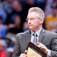 01 April 2018: Milwaukee Bucks head coach Joe Prunty is seen during the Denver Nuggets 128-125 victory over the Milwaukee Bucks, at the Pepsi Center, Denver, Colorado, USA.