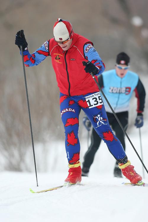 Ottawa, Canada ---07/02/09---CHRIS LYNAM of OTTAWA finished in 10 overall  2009 WinterludeTriathlon. It is a speed skate, cross country ski, run version of the triathlon. Photo copyright Sean Burges/Mundo Sport Images, 2009.