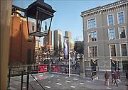 Nederland, Den Haag, 9-2-2015Stadsgezicht, panorama,skyline, van de hoogbouw in het centrum van de stad met op de voorgrond het plein.Moderne architectuur waar verschillende ministeries zijn gehuisvest, kantoren, kantoorgebouwen,highrise buildings, architectureFOTO: FLIP FRANSSEN/ HOLLANDSE HOOGTE