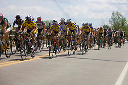 The Caico team riding in the peloton as their teammate Javier Zapata (CAI) is 2:00 up the road in a break away group.  Stage 7, the final stage of the Tour of Virginia, started and finished just off of Charlottesville's historic downtown mall on April 29, 2007.  The stage took country roads through Albemarle and Buckingham Counties, passing through the University of Virginia, the town of Scottsville, and Thomas Jefferson's Monticello before finishing in a series of circuits around downtown Charlottesville, VA.