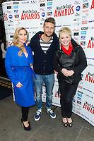 Hiedi Range, Ben Freeman and Cheryl Baker, WhatsOnStage Awards Nominations - launch party, Cafe De Paris, London UK, 06 December 2013, Photo by Raimondas Kazenas
