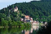 Altstadt und Schloss, Hirschhorn, Neckar, Hessen, Deutschland | Old Town and Castle, Hirschhorn, Neckar, Hessen, Germany