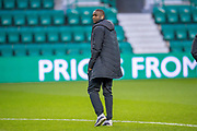 Clevid Dikamona (#28) of Heart of Midlothian before the Ladbrokes Scottish Premiership match between Hibernian FC and Heart of Midlothian FC at Easter Road Stadium, Edinburgh, Scotland on 29 December 2018.