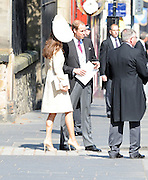 30.JULY.2011. EDINBURGH<br /> <br /> PRINCE WILLIAM AND CATHERINE DUCHESS OF CAMBIDGE LEAVING CANONGATE CHURCH IN EDINBURGH AFTER THE WEDDING OF ZARA PHILLIPS AND MIKE TINDALL.<br /> <br /> BYLINE: EDBIMAGEARCHIVE.COM<br /> <br /> *THIS IMAGE IS STRICTLY FOR UK NEWSPAPERS AND MAGAZINES ONLY*<br /> *FOR WORLD WIDE SALES AND WEB USE PLEASE CONTACT EDBIMAGEARCHIVE - 0208 954 5968*