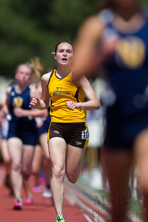 Rowan University's Megan Borz competes in the women's 1500 meter at the NJAC Track and Field Championships at Richard Wacker Stadium on the campus of  Rowan University  in Glassboro, NJ on Sunday May 5, 2013. (photo / Mat Boyle)