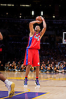 15 January 2010: Forward Marcus Camby of the Los Angeles Clippers shoots the ball against the Los Angeles Lakers during the first half of the Lakers 126-86 victory over the Clippers at the STAPLES Center in Los Angeles, CA.