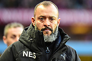 Wolverhampton Wanderers manager Nuno Espirito Santo during the EFL Sky Bet Championship match between Aston Villa and Wolverhampton Wanderers at Villa Park, Birmingham, England on 10 March 2018. Picture by Dennis Goodwin.