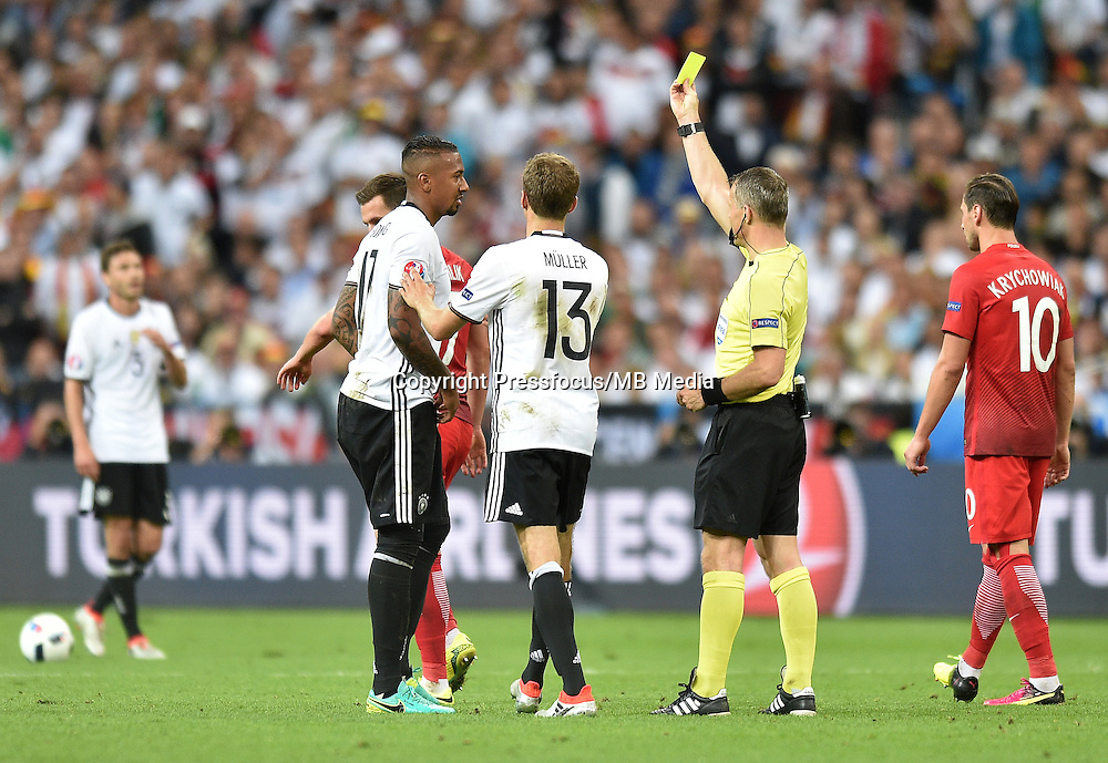2016.06.16 Saint-Denis<br /> Pilka nozna Euro 2016<br /> mecz grupy C Polska - Niemcy<br /> N/z Jerome Boateng, Thomas Muller<br /> Foto Lukasz Laskowski / PressFocus<br /> <br /> 2016.06.16 Saint-Denis<br /> Football UEFA Euro 2016 group C game between Poland and Germany<br /> Jerome Boateng, Thomas Muller<br /> Credit: Lukasz Laskowski / PressFocus