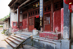 Exterior, Buddhist Temple, Yangshuo Hutong, Southern China.