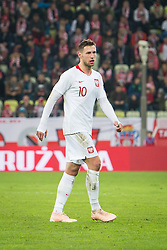 November 15, 2018 - Gdansk, Pomorze, Poland - Grzegorz Krychowiak (10) during the international friendly soccer match between Poland and Czech Republic at Energa Stadium in Gdansk, Poland on 15 November 2018  (Credit Image: © Mateusz Wlodarczyk/NurPhoto via ZUMA Press)