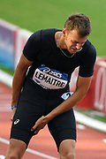 Christophe Lemaitre competes and and is injured during the Meeting de Paris 2018, Diamond League, at Charlety Stadium, in Paris, France, on June 30, 2018 - Photo Philippe Millereau / KMSP / ProSportsImages / DPPI