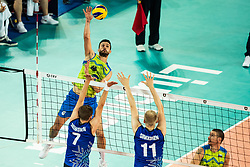 Gasparini Mitja #6 (SLO) during volleyball match between National teams of Slovenia and Finland in 2nd Round in Group C of 2019 CEV Volleyball Men's European Championship in Ljubljana, on September 14, 2019 in Arena Stozice. Ljubljana, Slovenia. Photo by Grega Valancic / Sportida