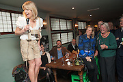 RACHEL JOHNSON; PHILLIPA WALKER; LYNN BARBER, Party to celebrate the publication of 'Winter Games' by Rachel Johnson. the Draft House, Tower Bridge. London. 1 November 2012.