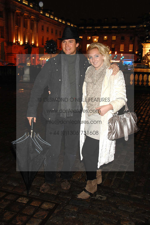 RORY MACKAY and NATASHA CORRETT at a Winter Party to celebrate the opening of the Ice Rink at Somerset House, London in association with jewellers Tiffany on 20th November 2007.<br />