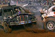 Arkansas Democrat-Gazette/BENJAMIN KRAIN --9/14/2013--<br /> Former champion Johnny Moore, from Searcy, competes in the White County Fair Demolition Derby. Moore lost the $5000 cash prize to his brother after they were the final two cars remaining at the end of the final heat.