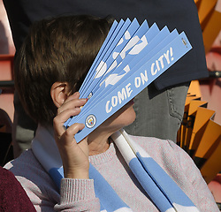 February 23, 2019 - Sheffield, England, United Kingdom - A Manchester City fan during the  FA Women's Continental League Cup Final  between Arsenal and Manchester City Women at the Bramall Lane Football Ground, Sheffield United FC Sheffield, Saturday 23rd February. (Credit Image: © Action Foto Sport/NurPhoto via ZUMA Press)