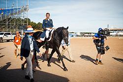 Gal Edward, NED, Glock's Zonik<br /> Tryon - FEI World Equestrian Games™ 2018<br /> Backgroundbilder vom Abreiteplatz<br /> Grand Prix de Dressage Teamwertung und Einzelqualifikation<br /> 13. September 2018<br /> © www.sportfotos-lafrentz.de/Sharon Vandeput