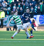 26th December 2017, Dens Park, Dundee, Scotland; Scottish Premier League football, Dundee versus Celtic; Dundee's Jon Aurtenetxe and Celtic's James Forrest