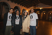 18 January 2010-Santa Barbara, CA: Martin Luther King Day Celebration, Pre-March meeting at the Arlington Theater.  (l-r) Santa Barbara City Councilman Das Williams, and MLK Committee members Sojourner Rolle, Onja Brown Lawson and MLK Comm. Chairman Derrick Curtis.  Photo by Rod Rolle