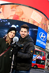 UK ENGLAND LONDON 5DEC12 - Elisa Kropp (27) of Alive4Fashion and Bastian (26) of Wohnprinz shoot on location in central London during the YouTube NextUp training and mentorship programme.....25 winners from YouTube's NextUp competetion were selected to receive an all-expenses paid trip to London where they are attending a week of training and mentorship.....jre/Photo by Jiri Rezac....© Jiri Rezac 2012