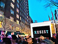 New York, USA. 23rd February, 2017. Hundreds of New Yorkers Rally outside Stonewall in New York City to Oppose Donald Trump's Reversal Of Transgender Bathroom Policy in North Carolina which they see as an attack on trans students and the trans community by Trump.  The rally which drew around one thousand people from around New York City, community groups, members of the NY city council and State Rep's. Credit: Mark Apollo/Hashtag Occupy Media News