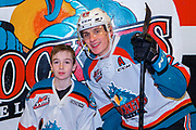 KELOWNA, CANADA - FEBRUARY 06: Pepsi Player of the game with Nolan Foote #29 of the Kelowna Rockets at the Kelowna Rockets game on February 06, 2019 at Prospera Place in Kelowna, British Columbia, Canada. (Photo By Cindy Rogers/Nyasa Photography, *** Local Caption ***