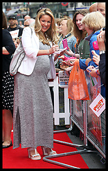 Image licensed to i-Images Picture Agency. 13/07/2014. London, United Kingdom.  A pregnant Claire Sweeney at the World premiere of Pudsey The Dog : The Movie in London.  Picture by Stephen Lock / i-Images