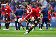 Wayne Rooney of Manchester United in warm up during the The FA Cup semi final match between Everton and Manchester United at Wembley Stadium, London, England on 23 April 2016. Photo by Phil Duncan.