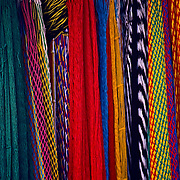 Hammocks hanging on market. Mexico