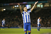 Brighton & Hove Albion winger Anthony Knockaert (11) gestures the fans during the EFL Sky Bet Championship match between Brighton and Hove Albion and Newcastle United at the American Express Community Stadium, Brighton and Hove, England on 28 February 2017. Photo by Phil Duncan.