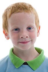 Portrait of a little boy in the studio,