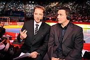 DESCRIZIONE : France Tournoi international Paris Bercy Equipe de France Homme France Islande 17/01/2010 Television<br /> GIOCATORE : Gregory Anquetil Frederic Brindelle Sport plus<br /> SQUADRA : <br /> EVENTO : Tournoi international Paris Bercy<br /> GARA : France Islande<br /> DATA : 17/01/2010<br /> CATEGORIA : Handball Supporters Ambiance France Homme<br /> SPORT : HandBall<br /> AUTORE : JF Molliere par Agenzia Ciamillo-Castoria <br /> Galleria : France Homme 2009/2010 <br /> Fotonotizia : France Tournoi international Paris Bercy Equipe de France Homme France Islande 17/01/2010 Television<br /> Predefinita :