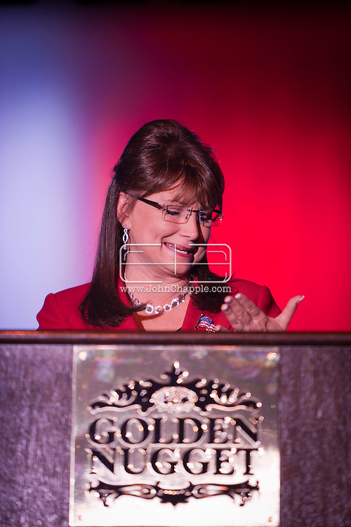 24th February 2011. Las Vegas, Nevada.  Celebrity Impersonators from around the globe were in Las Vegas for the 20th Annual Reel Awards Show. Pictured is Debbie Cavalier as Sarah Palin. Photo © John Chapple / www.johnchapple.com..