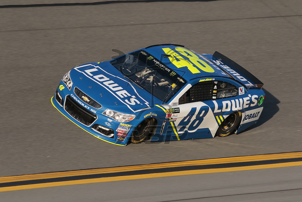 February 17, 2017 - Daytona Beach, Florida, USA:  Jimmie Johnson (48) takes to the track for a practice session for the Advance Auto Parts Clash at Daytona at Daytona International Speedway in Daytona Beach, Florida.