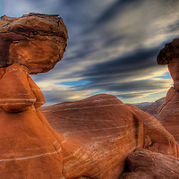 Toadstool rock formation in Grand Staircase-Escalante National Monument Utah