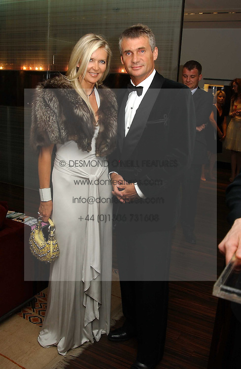 MR CHRISTOPHER WHALLEY and designer AMANDA WAKELEY at a party to celebrate the publication of 'The Russian House' by Ella Krasner held at De Beers, 50 Old Bond Street, London W1 on 9th June 2005.<br />